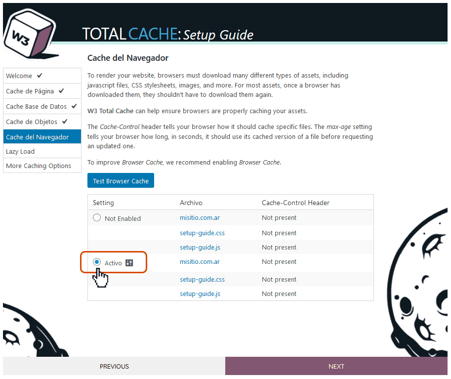Instalación y configuración de W3 Total Cache 13