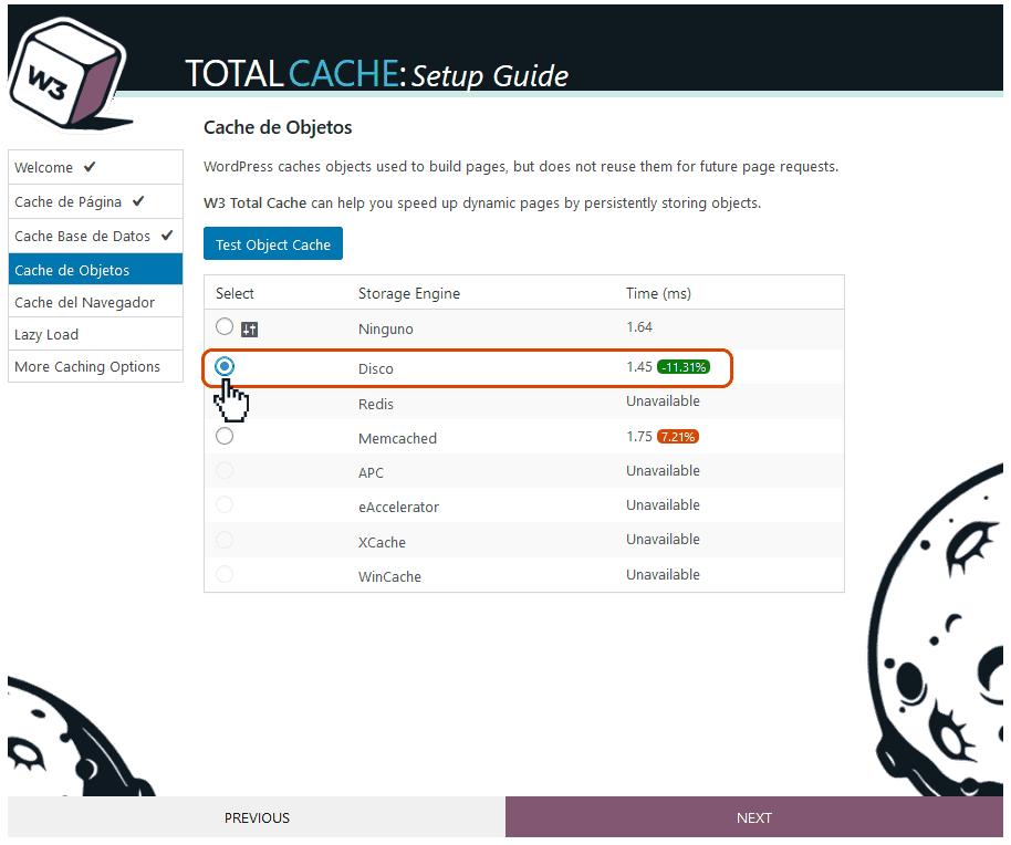 Instalación y configuración de W3 Total Cache 11