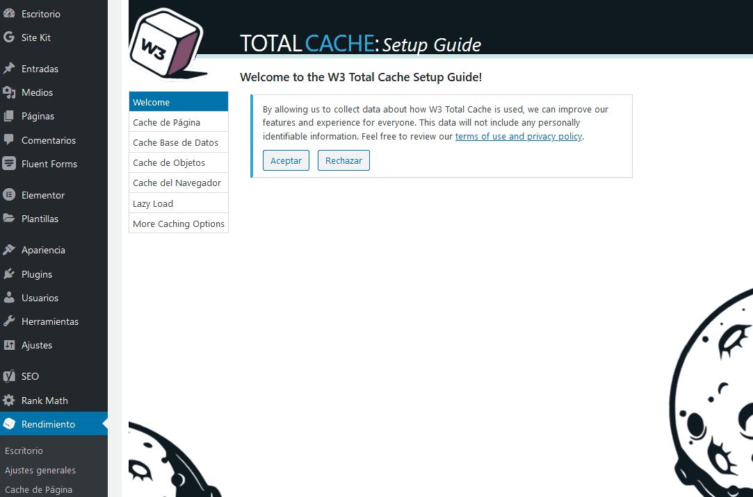 Instalación y configuración de W3 Total Cache 4