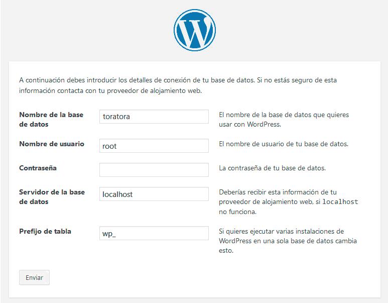 Cómo instalar WordPress con y sin panel de control 6