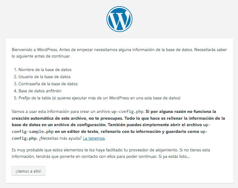 Cómo instalar WordPress con y sin panel de control 5