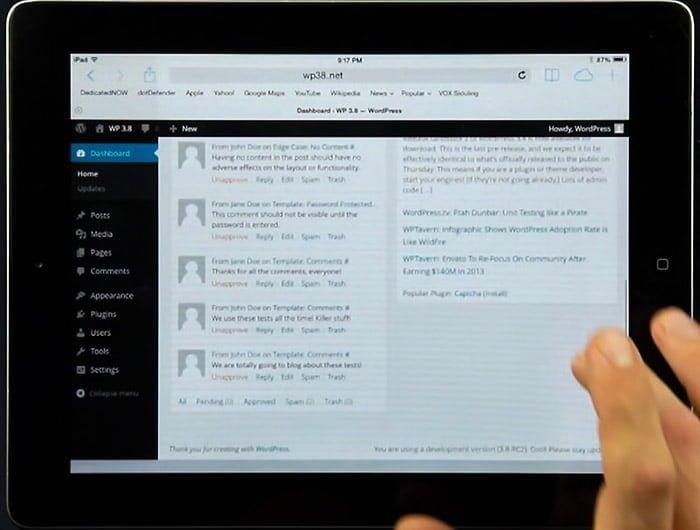 WordPress 3.8 lanzado: Estética renovada y funcionalidades 2