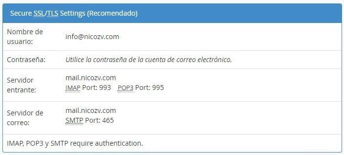 Configuración de mail en Mozilla Thunderbird 1