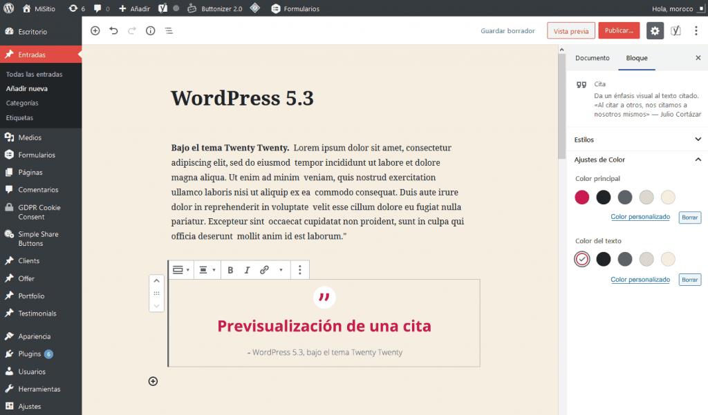 WordPress 5.3: análisis de sus 20 mejoras más poderosas 5