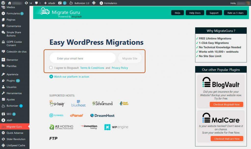 ¿Cómo migrar WordPress entre servidores? 3
