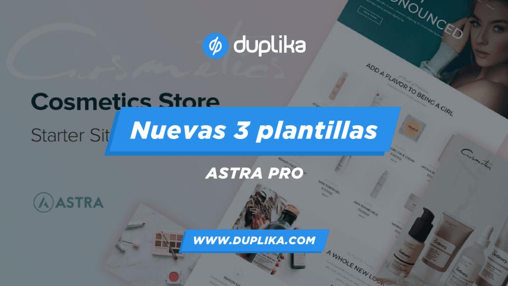 Nuevas plantillas para Astra Pro 1