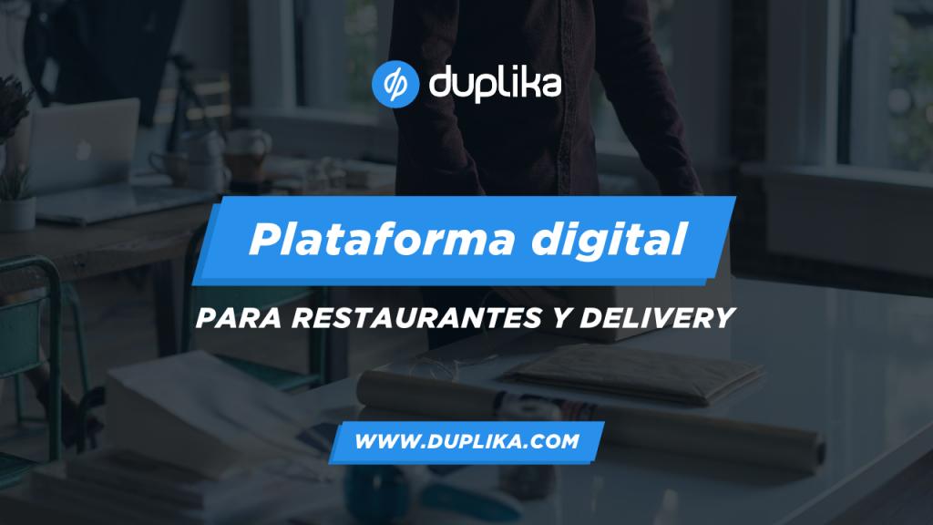 Plataforma digital para restaurantes y delivery 1