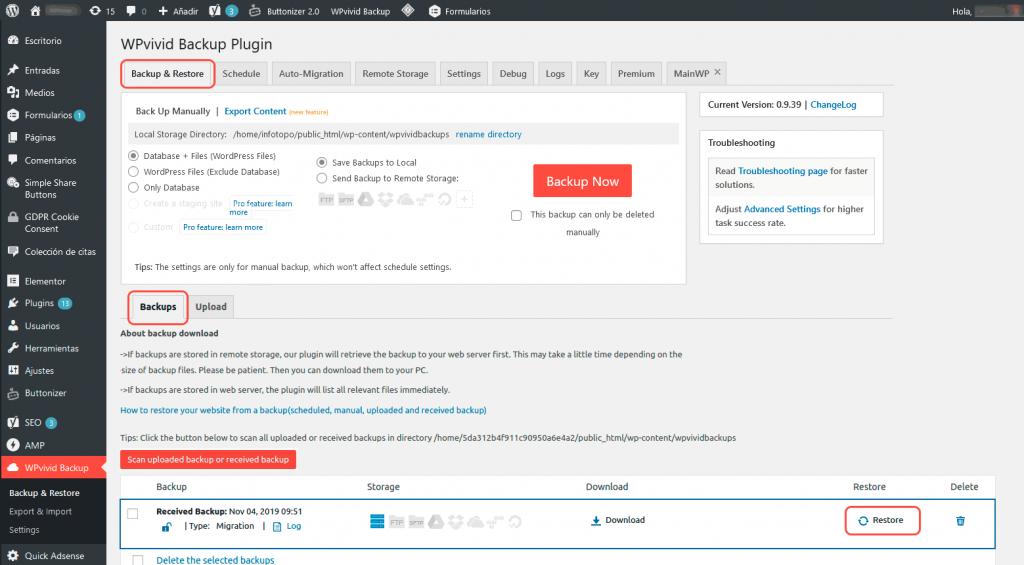 ¿Cómo migrar WordPress entre servidores? 12