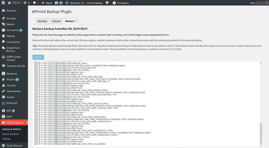 ¿Cómo migrar WordPress entre servidores? 13