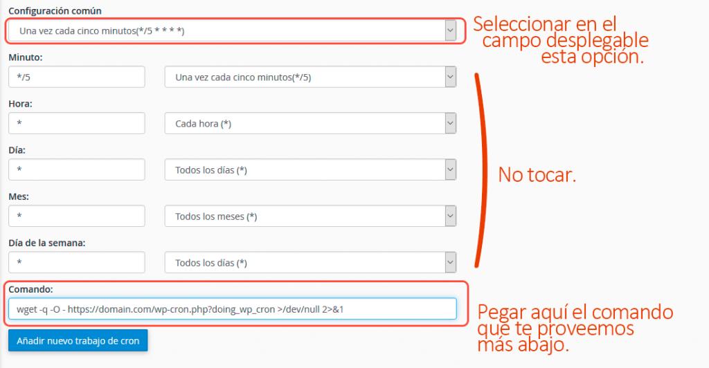 Cómo configurar Cron Jobs de WordPress manualmente 11