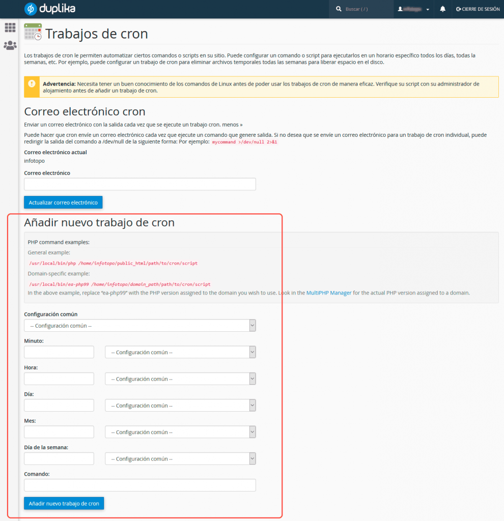 Cómo configurar Cron Jobs de WordPress manualmente 10