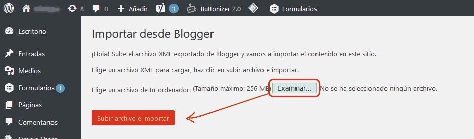 Cómo migrar Blogger a WordPress 6