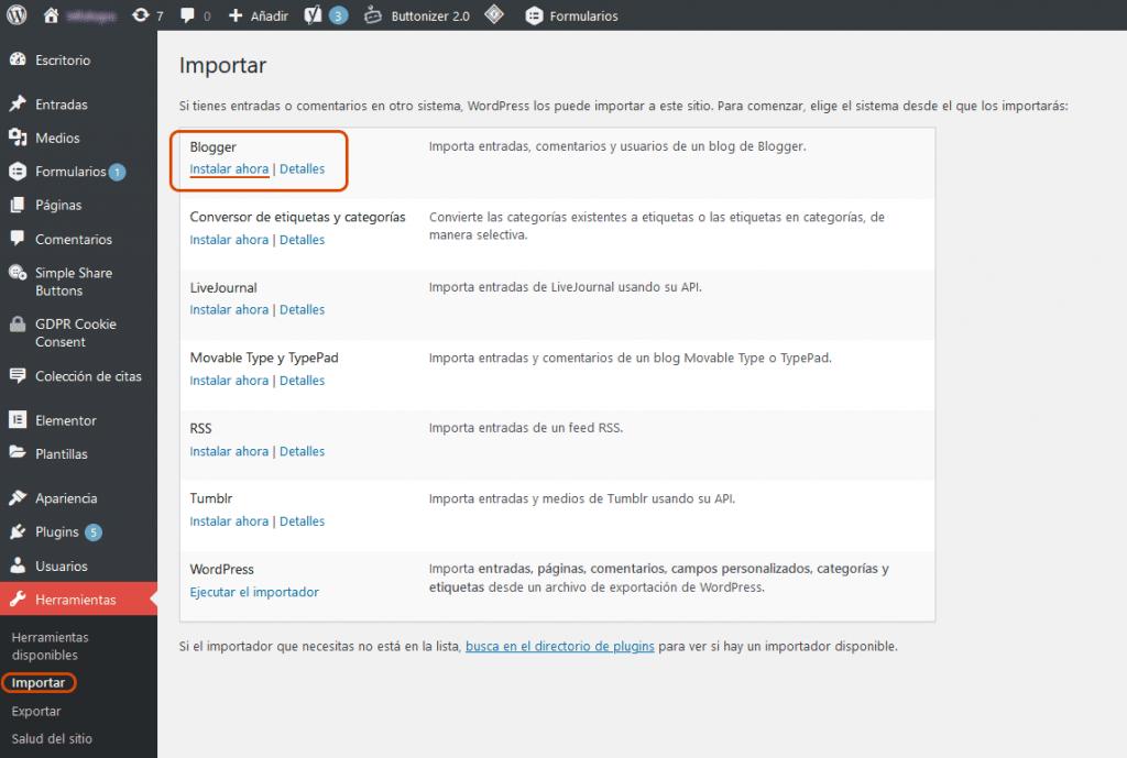 Cómo migrar Blogger a WordPress 4