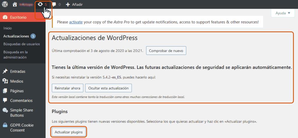 Cómo mantener seguro un sitio Wordpress 1