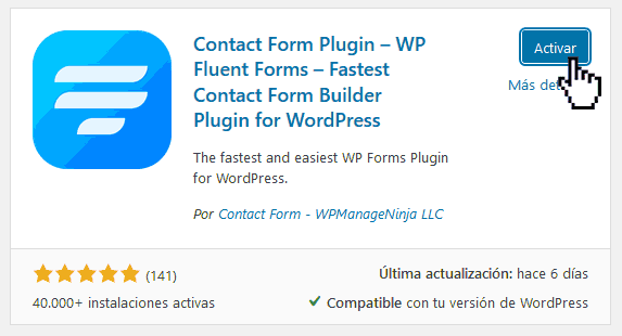 Crear formularios de contacto en WordPress 3