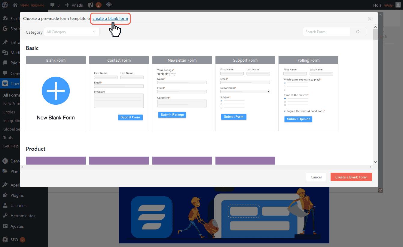 Crear formularios de contacto en WordPress 5