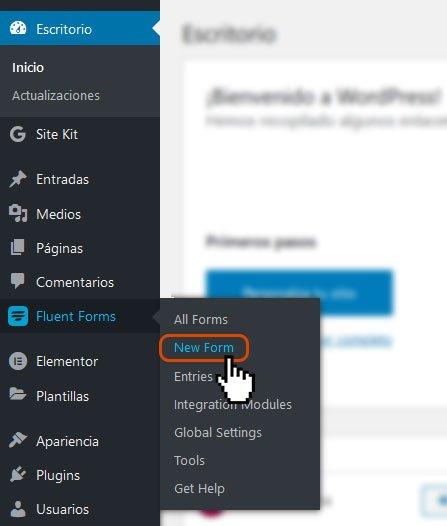 Crear formularios de contacto en WordPress 4