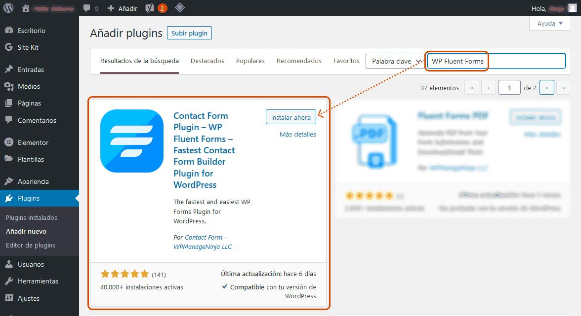 Crear formularios de contacto en WordPress 2