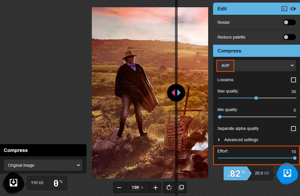 El nuevo formato AVIF para comprimir imágenes 11