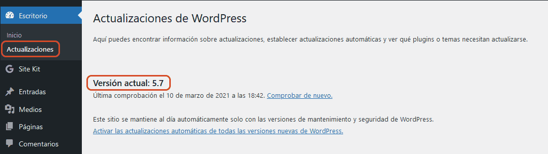 WordPress 5.7 12