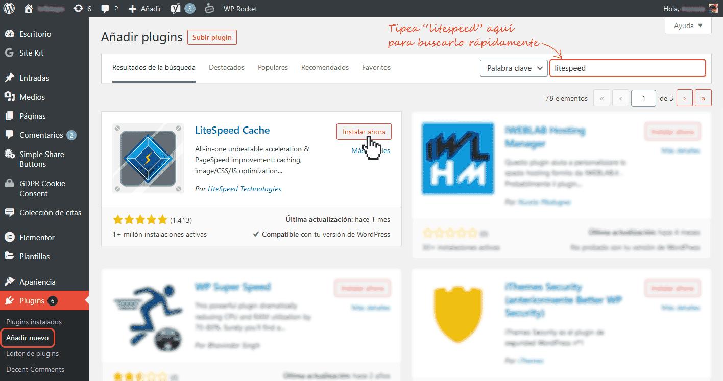 Configurar LiteSpeed cache en WordPress 1